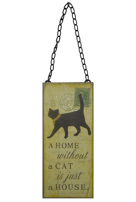 "Табличка подвесная ""Дом без кошки просто здание"" - фото 13110"