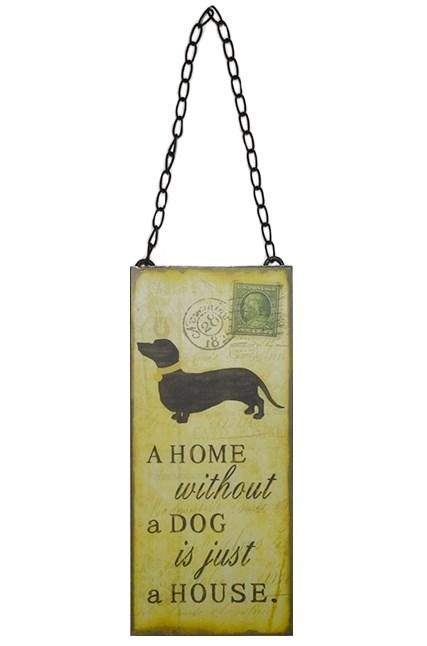 "Табличка подвесная ""Дом без собаки просто здание"" - фото 13111"