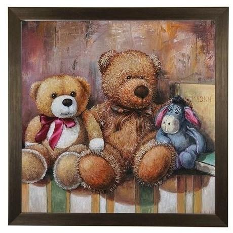 """Картина в раме """"Три друга"""" - фото 14244"""