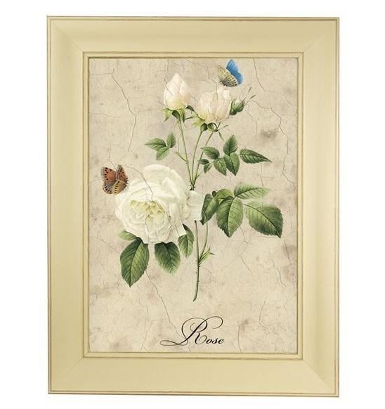 """Картина в раме """"Белая роза"""" - фото 20705"""