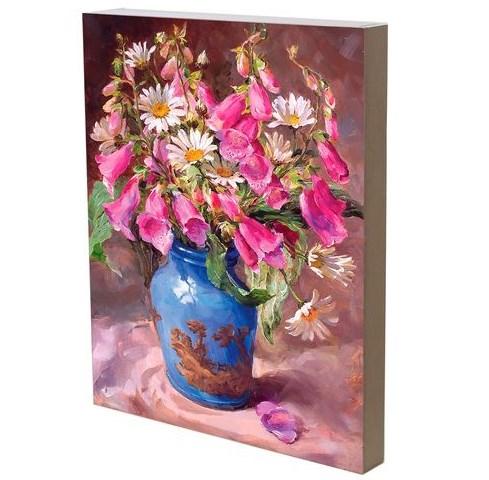 """Панно """"Летние цветы"""" 29х42 см - фото 27686"""