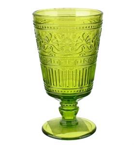 """Бокал """"Афина"""" зеленый 320 мл из цветного стекла"""