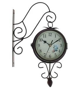 Часы настенные двусторонние металлические диаметр 12 см