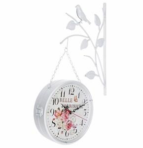 """Часы настенные двухсторонние «Цветочный сад"""""""