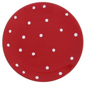 "Тарелка ""Горох"" красная диаметр 19 см"
