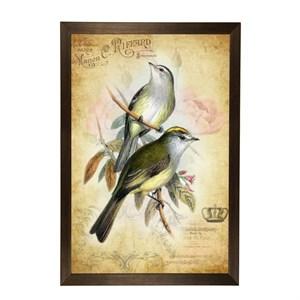 "Постер в раме ""Птицы на ветке"" 33х43 см"