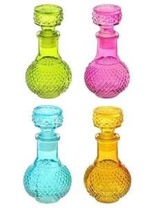 Бутылочка стеклянная 100 мл в ассортименте разные цвета