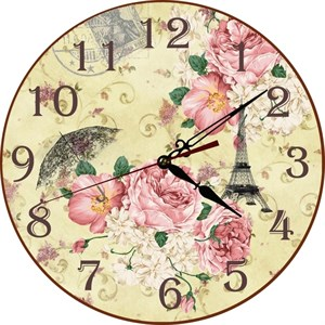 """Часы настенные """"Розы Парижа"""""""