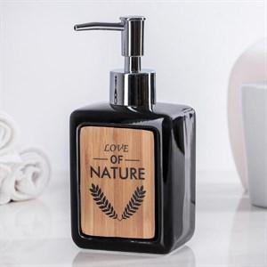Дозатор для мыла черный