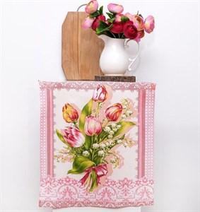 """Полотенце кухонное """"Тюльпаны"""" 50х60 см"""