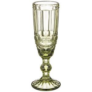 """Бокал """"Франция"""" 150 мл зеленый для шампанского из цветного стекла"""
