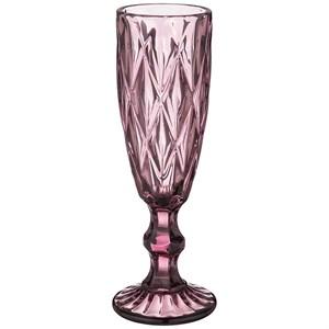 """Бокал для шампанского """"Клетка"""" 150 мл розовый из цветного стекла"""