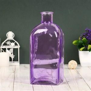 Ваза-бутылка стеклянная малиновая