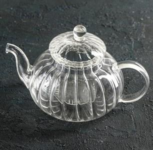 Чайник стеклянный заварочный 600 мл с ситом