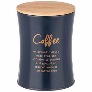 """Банка для хранения """"Кофе"""" 1100 мл металлическая темно-синяя"""