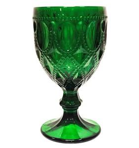 """Бокал """"Кружево"""" зеленый 270 мл из цветного стекла"""