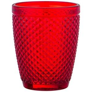 """Стакан """"Винтаж"""" 280 мл красный из цветного стекла"""