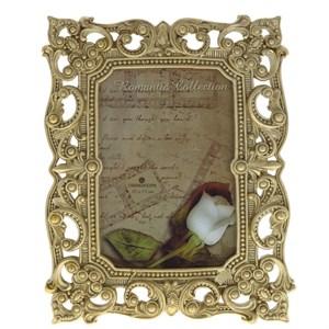 Фоторамка золотистая для фото 9х13,5 см