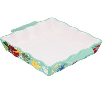 Блюдо для запекания с цветами 30х24 см