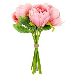 Букет искусственных пионов розовых