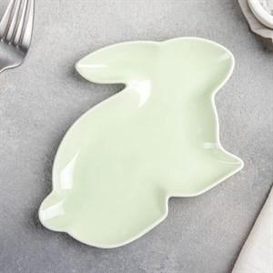 """Блюдо """"Заяц"""" зеленый"""