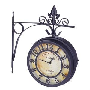 Часы двусторонние настенные диаметр 20 см