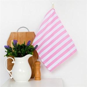 """Полотенце кухонное """"Розова полоса"""" 35х65 см"""