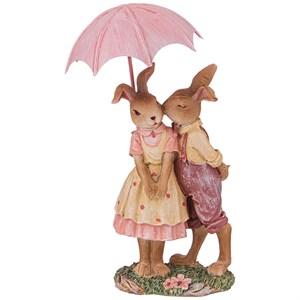 """Статуэтка """"Кролики под зонтом"""""""