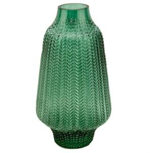 Ваза стеклянная зеленая 33 см