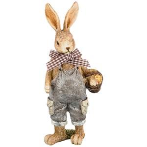 """Статуэтка """"Кролик с корзинкой"""""""