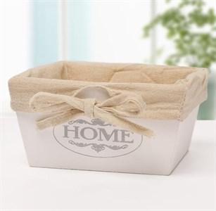 """Ящик деревянный """"Дом/Home"""" с подкладкой 22х22 см"""